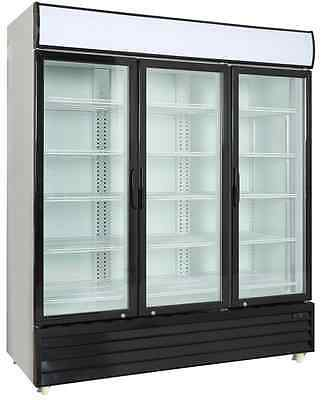 Commercial 3 Glass Door Merchandiser Upright Refrigerator - Display Cooler