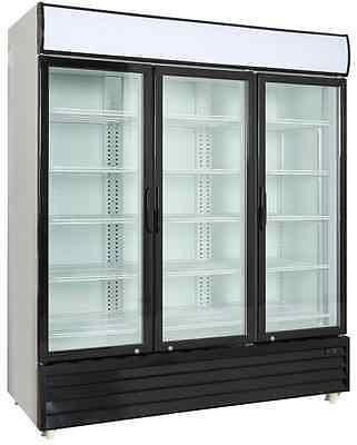 Commercial 3 Glass Door Merchandiser Upright Refrigerator - Display Cooler