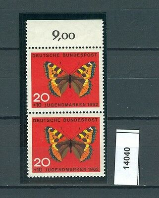 14040) Perfekt: Bund MiNr. 378 BF 3 senkrechtes Paar einwandfrei postfrisch ** !