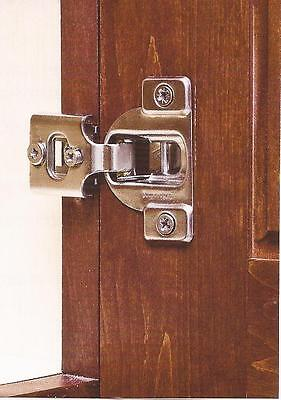 "10 -Pair- 3 Way Adjustments- 1/2"" Overlay Concealed Cabinet Door Hinges- #3390"