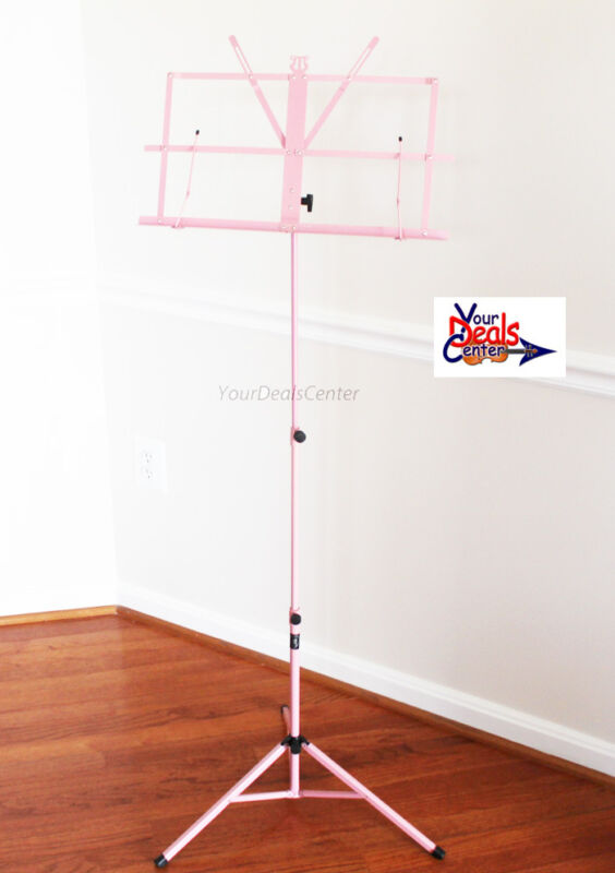 Portable Folding Sheet Musc Stand/ Carrying Bag-Pink