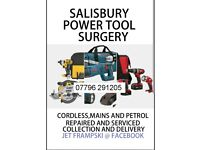 SALISBURY POWER TOOL SURGERY CORDLESS AND MAINS TOOLS FIXED