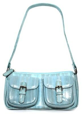 Lee Sands Baby Blue Zip Top and Double Pocket Mini Bag ()