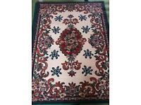 2 x Green Floral Rugs
