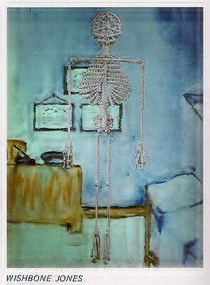Macrame Wishbone Jones Skeleton Halloween Wall Decor Guys 'n Gals No. 2 PD1082 - Halloween Wishbone