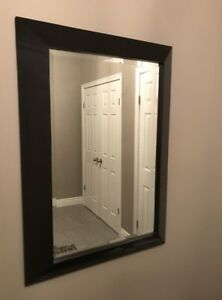 Mirror with black frame