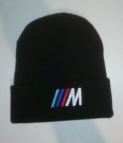 Bonnet noir bmw m3  logo brodé bonnet en coton/poly , neuf