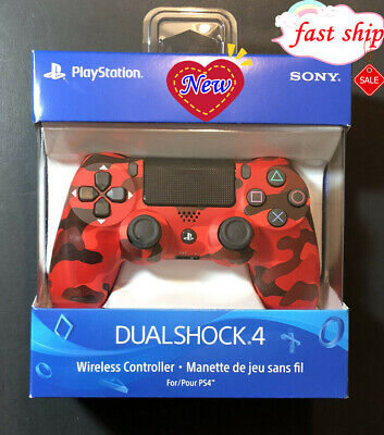 New SONY -DualShock 4 Wireless Controller for PlayStation 4 ( PS4 )- Red/Camo