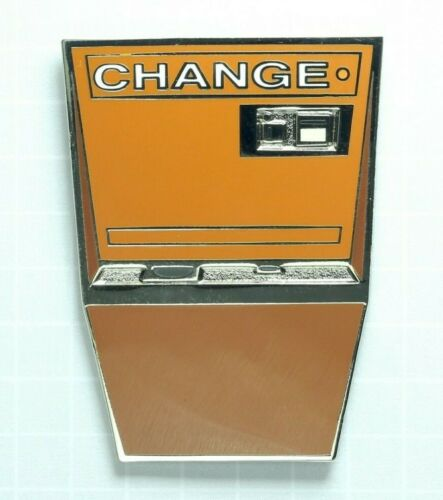 Arcade Change Machine - BROWN Enamel Lapel Pin - Retro Games 1980