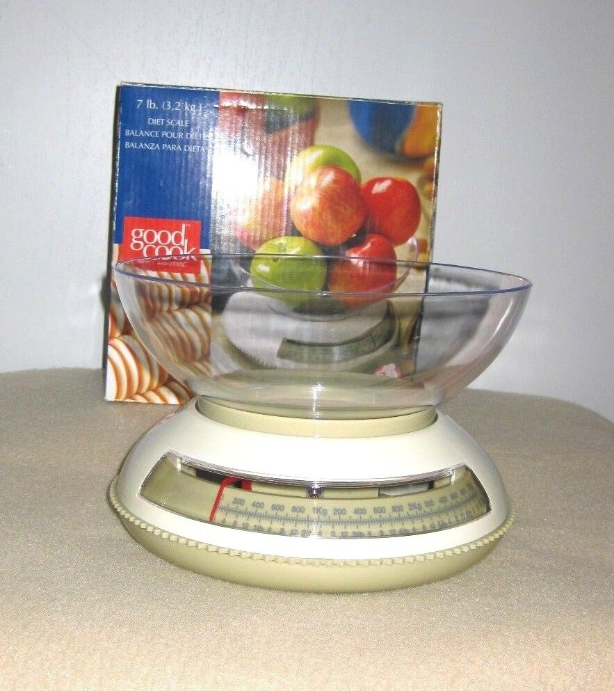 Bradshaw Good Cook~7 lb Diet Scale~White~So Easy To Use~Dieter's Must~New