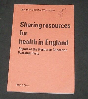 1976 Sharing Resources Health England Dept Health Social Security Capital Target
