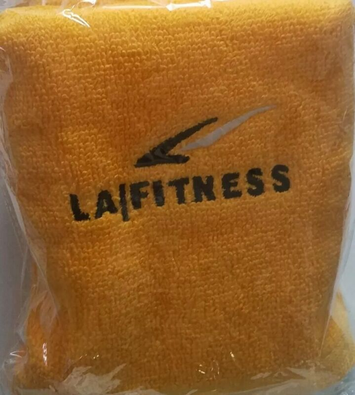 BRAND NEW LA Fitness Official Workout Towel SEALED MINT in Package Yellow