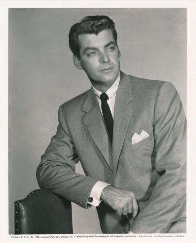 RORY CALHOUN Handsome Original Vintage 1955 Universal Studio Portrait Photo