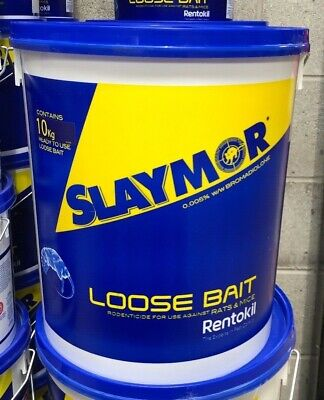 Slaymor Professional Rat & Mouse Poison Bait Rentokil Rodenticides 10 Kg Bucket