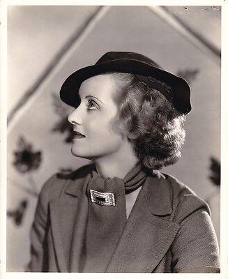 BETTE DAVIS Original Vintage '30s FRYER Stamp WARNER BROS Fashion Portrait Photo