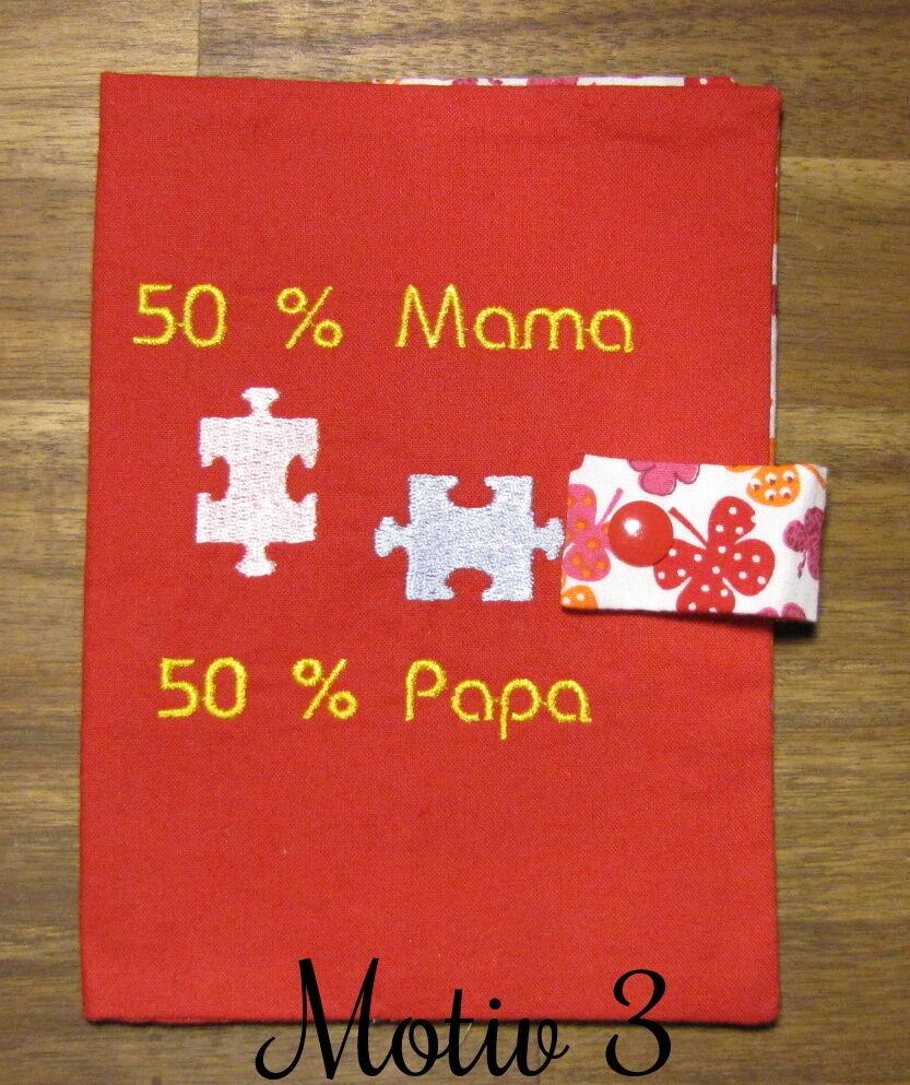 Mutterpasshülle | Geschenk | Handgemacht Rot Motiv 3