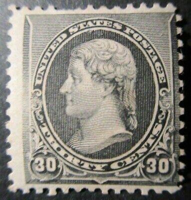 US S# 228 *MINT OG H* { 30c JEFFERSON } BLACK 1890 AMERICAN BANKNOTE CV$ 325.00
