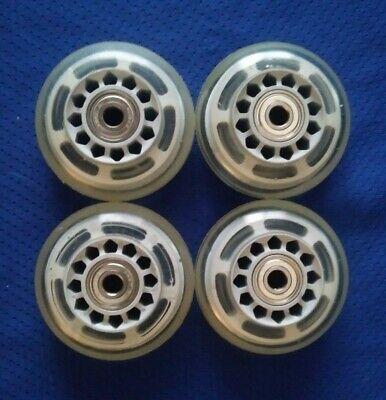 Rollerblade Inline Hockey Fitness Skate Wheels (70mm  / 78A) + Bearings 4-Pack
