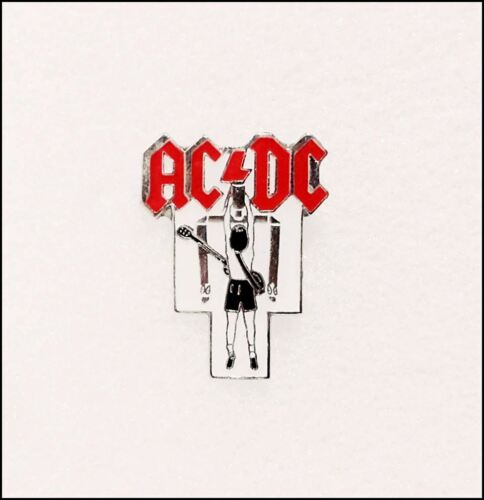 AC/DC Vintage Flick Of The Switch Enamel Pin Pinback Badge Angus Young