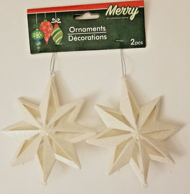 Christmas Snowflake Glitter Ornaments 2ct w](Glitter Christmas Ornaments)