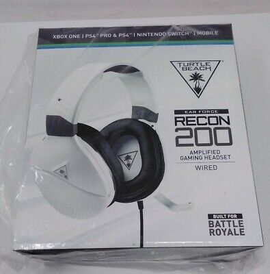 Turtle Beach Ear Force Recon 200 Gaming Headset Wired Black & White
