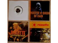 """4 CLASSIC SINGLES BY ROXETTE, ALL ON 7"""" 45 RPM VINYL -"""