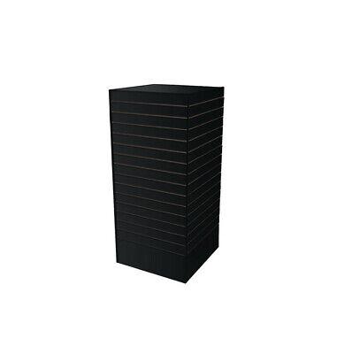 Black - 24l X 24w X 54h Slatwall Tower Unit Retail Store Display Fixture