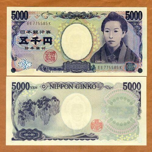 Japan, 5000 Yen, ND (2004), P-105b, UNC