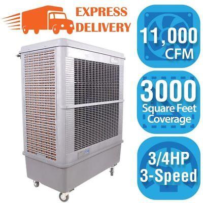 Portable Evaporative Swamp Cooler 3,000 Sq. Ft. Hessaire 11,