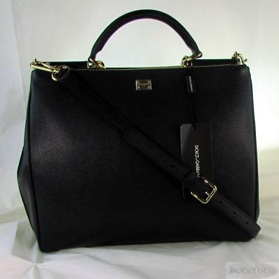 Dolce & Gabbana D&G Shopping Vitello Dauphine leather Tote - Nero (Black) NIB