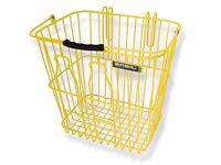 *Vintage* Basil Memories Milk Bottle Bicycle Basket in Yellow *slightly damaged*