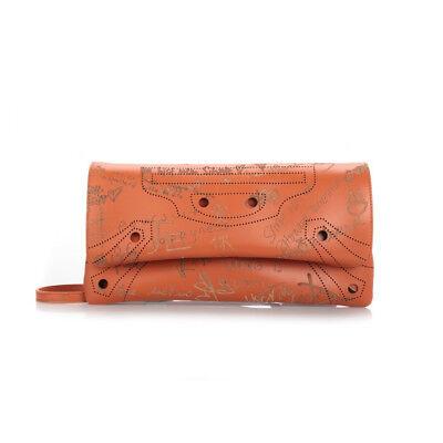 BALENCIAGA Valentine's Day Blackout Envelope Strap Bag in Orange