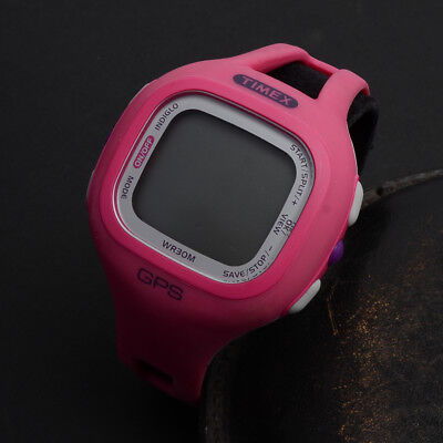 Timex PINK GPS Watch T5K697 Only No Charger Clean Pre Owned