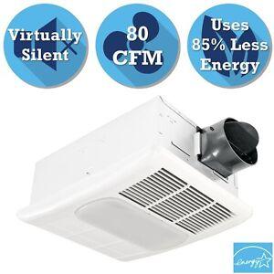 Bathroom Ceiling Exhaust Bath Fan With Light Heater Lamp Quiet Air Ventilation