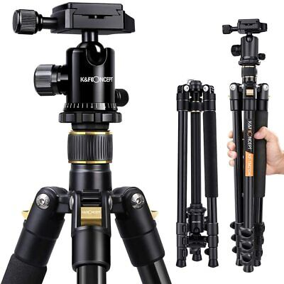 "K&F Concept TM2324 62"" Compact Aluminum DSLR Camera Tripod with 360 ° Ball Head"