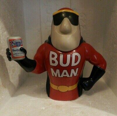 Collectible Bud Man Lidded Stein - 1993 Ceramic Beer Mug - Anheuser Busch