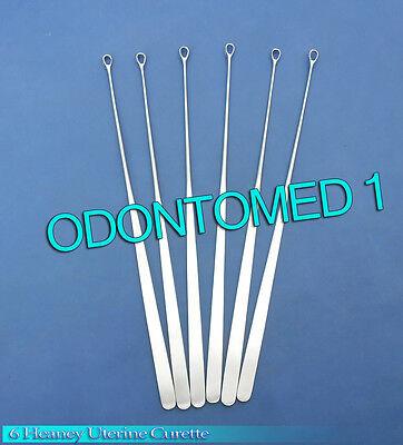 6 Heaney Uterine Biopsy Curette Obgynecology Instruments