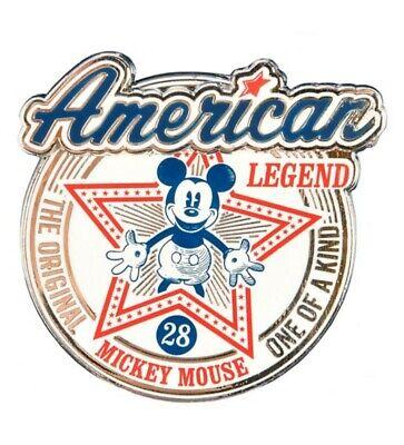 NEW Exclusive Disneyland Paris Disney Mickey Mouse American Legend Pin.