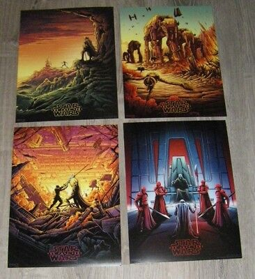 Star Wars The Last Jedi AMC Exclusive IMAX Full Set  #1, #2, #3 and #4 Posters