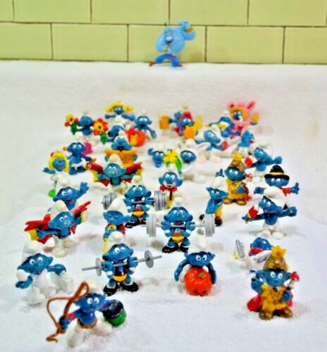 Vintage Smurfs Figurines Lot Of 34 Schleich 1978-1981 (23)