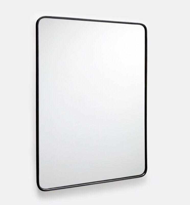 "Rejuvenation Metal Rounded Rectangle Mirror 20""x30"" Bronze (almost black)"