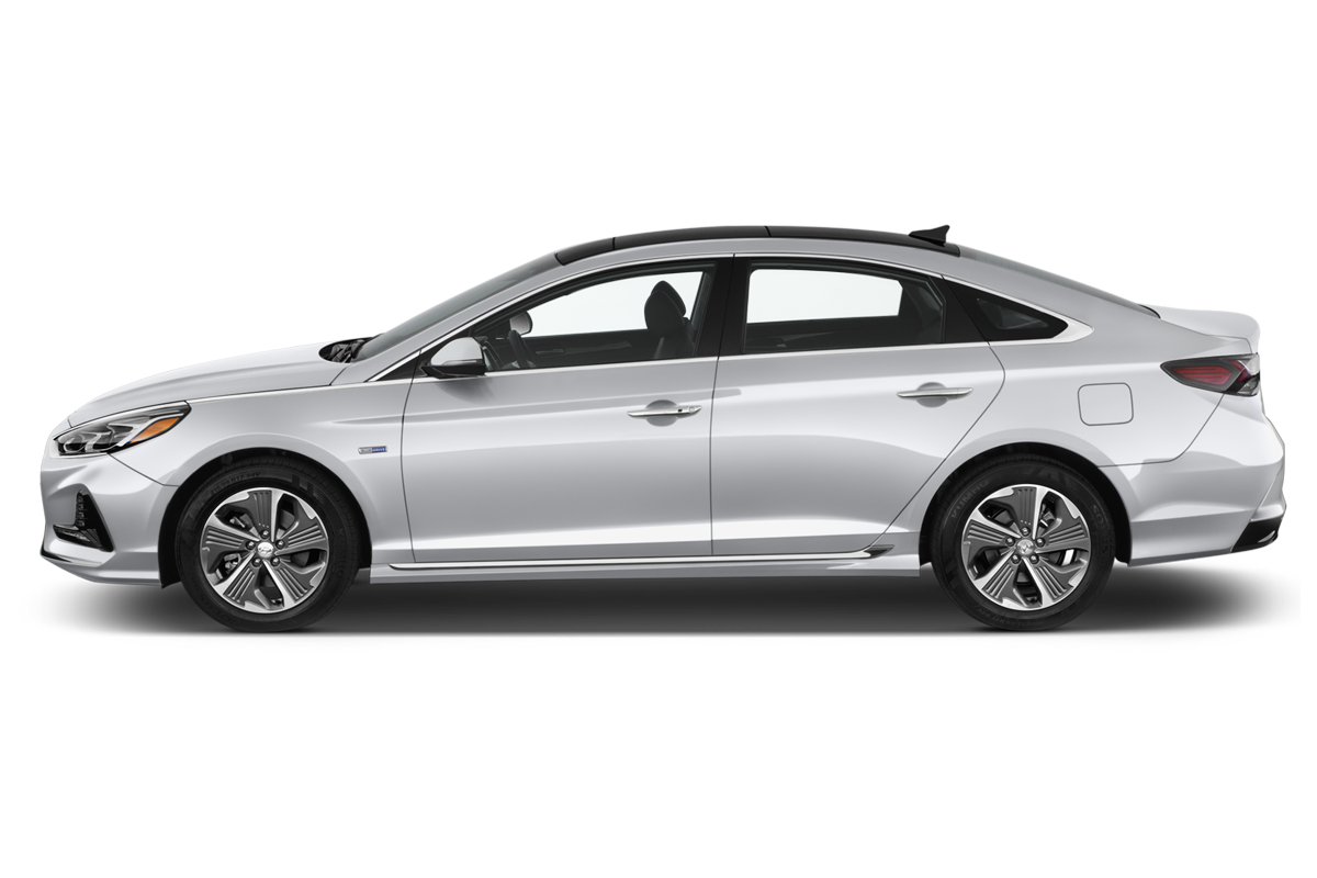 Hyundai Sonata Hybrid side view