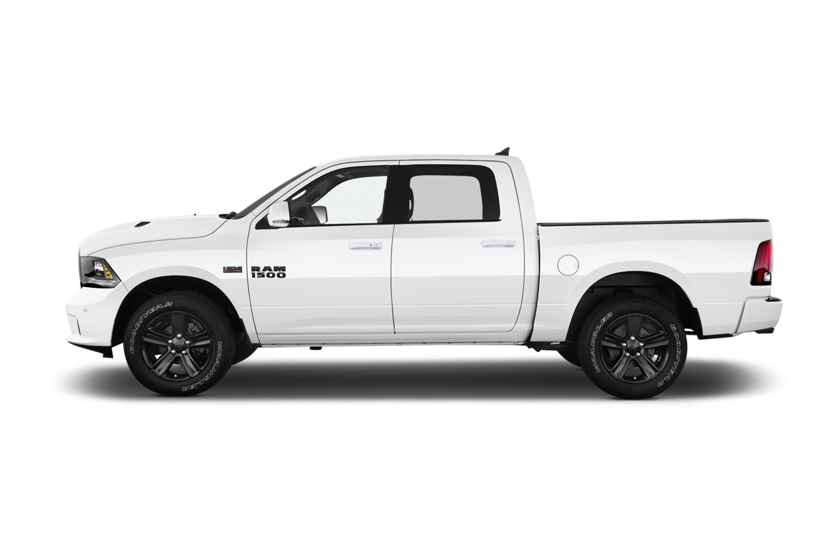 RAM 1500 side view