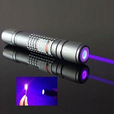 High Power Blue Purple Laser Pointer Burning Light Beam Pen Battery Charger New