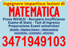 Lezioni matematica (anche on line): medie; superiori; universita
