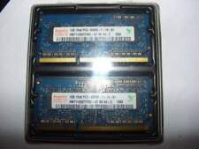 Coppia Memorie RAM SO DIMM DDR3 Hynix 1GB x2 APPLE