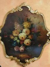 Quadro dipinto su tavola legno cm 70x75