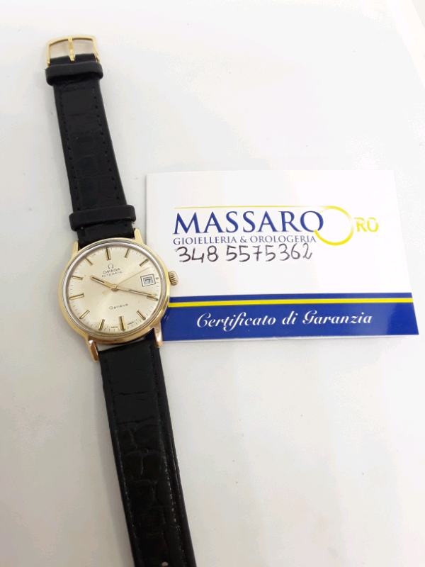 Omega automatic vintage watch 18k gold 4