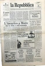 quotidiano la repubblica anno 1 n. 1 originale