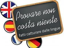Corso on-line con madrelingua: ing, fra, ted, spa, cin, giap